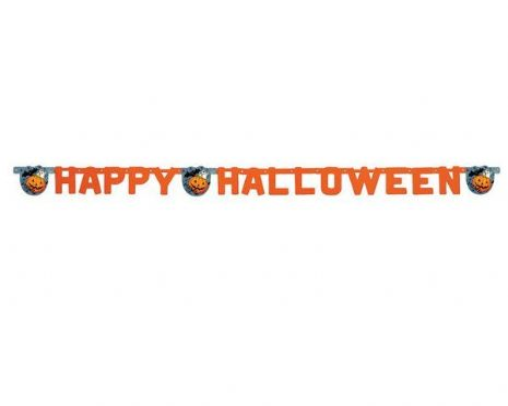 Bunting Letter Banner Happy Halloween Creepy Trick Treat